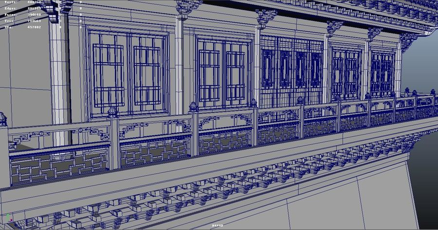 Chinese ancient architecture royalty-free 3d model - Preview no. 3