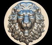 lion mask maschera leone 3d model