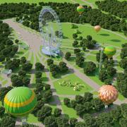大公園 3d model