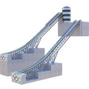 Ski Jumping Ramp 3d model