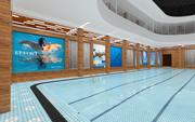 Recreational Pool and Lockers Room_3D Model 3d model