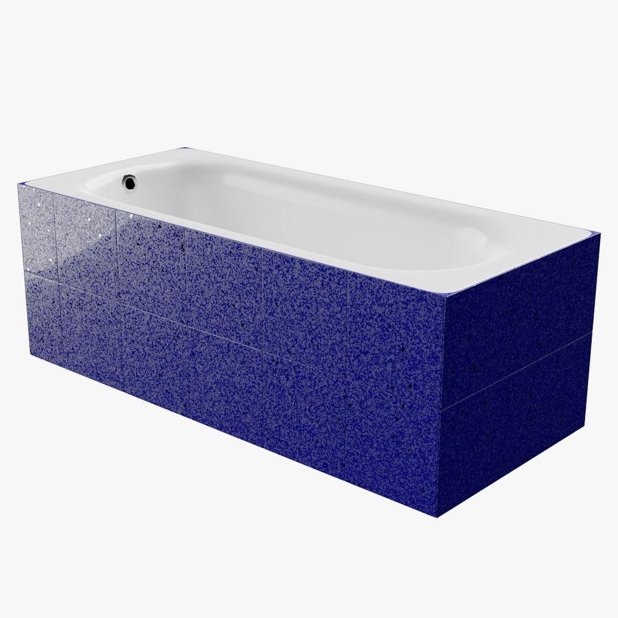 Niebieskie światło kafelkowe wanny royalty-free 3d model - Preview no. 1