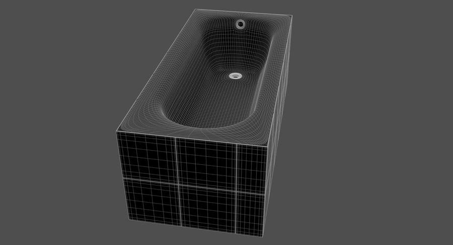 Niebieskie światło kafelkowe wanny royalty-free 3d model - Preview no. 17