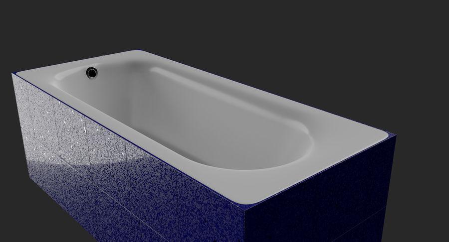 Niebieskie światło kafelkowe wanny royalty-free 3d model - Preview no. 8