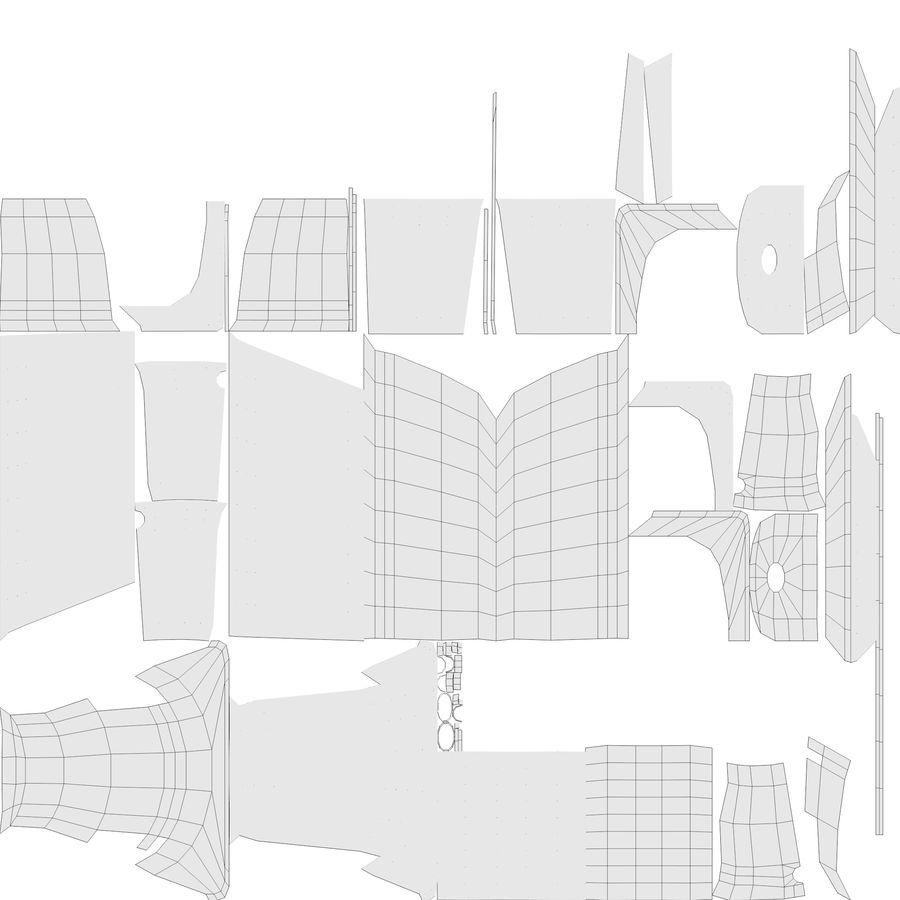 Niebieskie światło kafelkowe wanny royalty-free 3d model - Preview no. 9