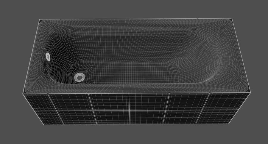 Niebieskie światło kafelkowe wanny royalty-free 3d model - Preview no. 14