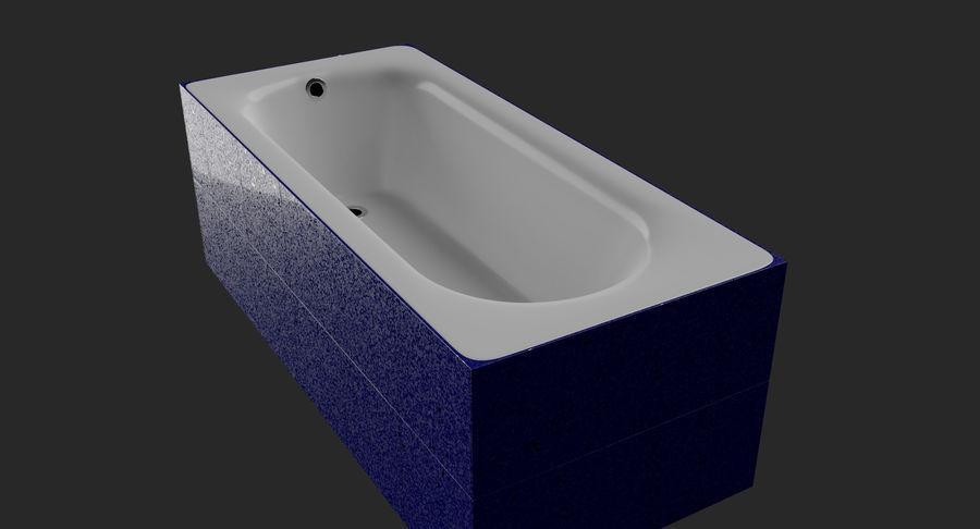 Niebieskie światło kafelkowe wanny royalty-free 3d model - Preview no. 6