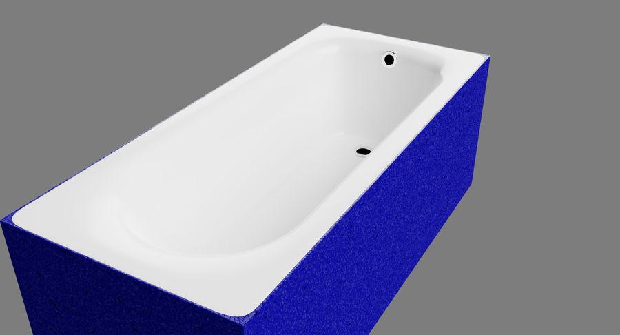 Niebieskie światło kafelkowe wanny royalty-free 3d model - Preview no. 5