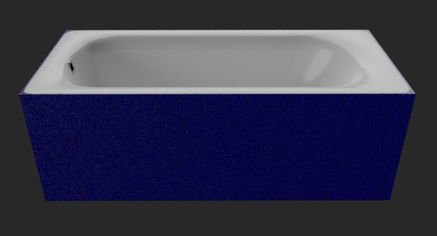 Niebieskie światło kafelkowe wanny royalty-free 3d model - Preview no. 7