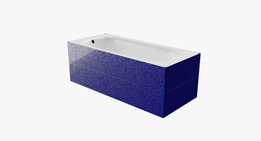 Niebieskie światło kafelkowe wanny royalty-free 3d model - Preview no. 2