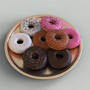 Donuts Koleksiyonu Foto gerçekçi Düşük poli 3D model VR AR 3d model