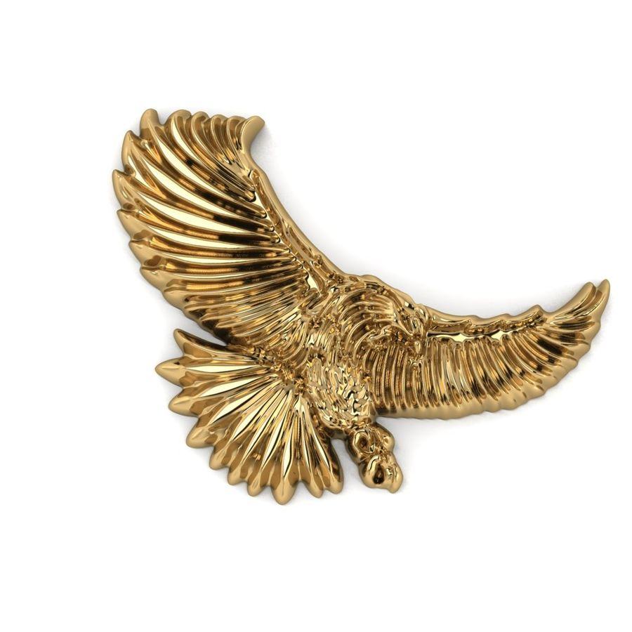 Eagle royalty-free 3d model - Preview no. 2