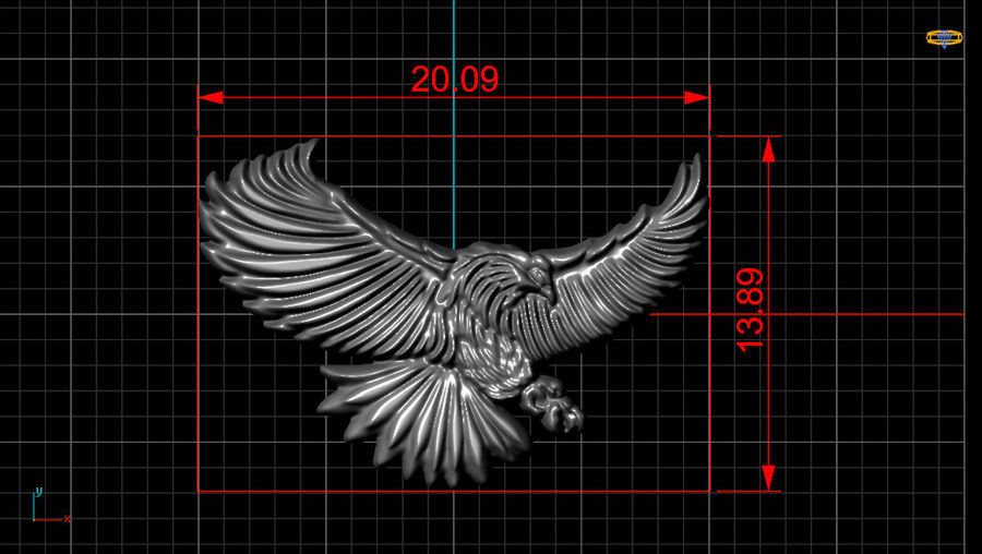 Eagle royalty-free 3d model - Preview no. 8