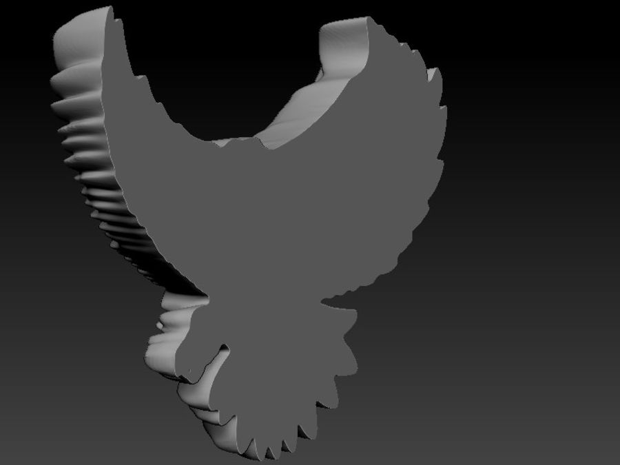 Eagle royalty-free 3d model - Preview no. 7