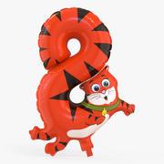 Balloon Number Eight 3d model