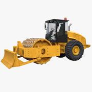 Soil Compactor w Blade 3d model