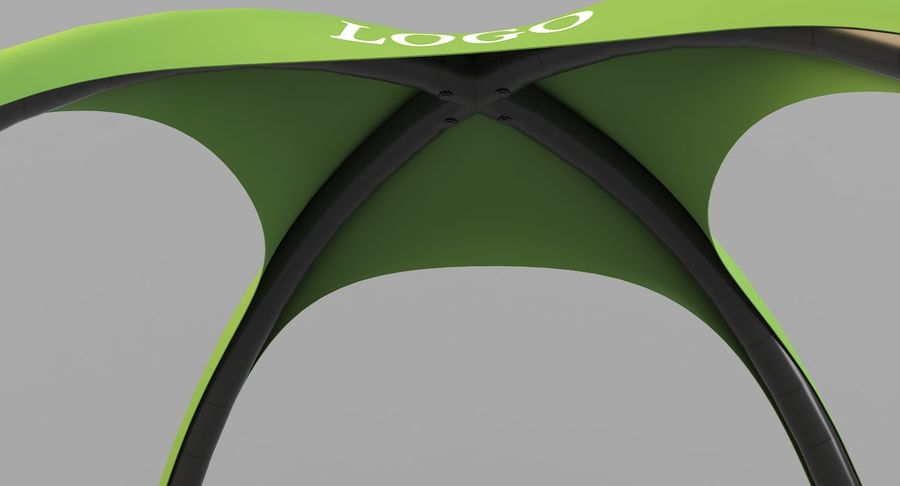 Event Tent royalty-free 3d model - Preview no. 6