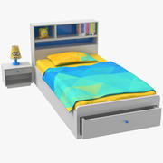 Kids Bed With Accessories 3d model
