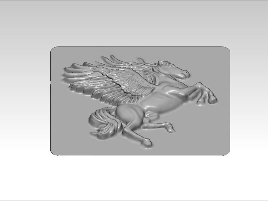 Pegasus flyghäst royalty-free 3d model - Preview no. 7