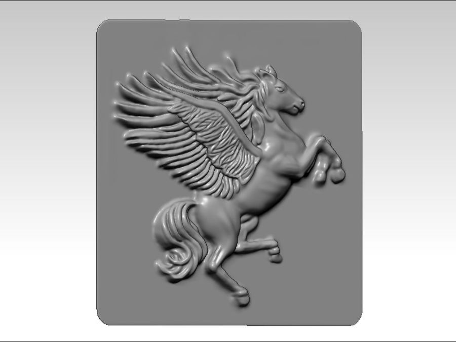 Pegasus flyghäst royalty-free 3d model - Preview no. 3