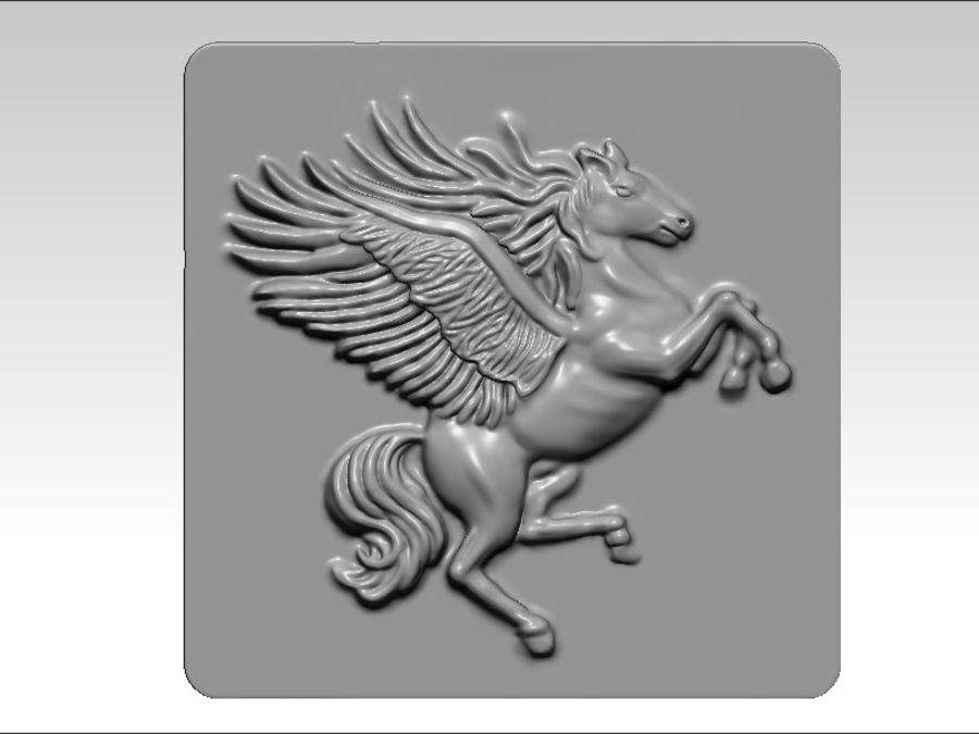 Pegasus flyghäst royalty-free 3d model - Preview no. 2