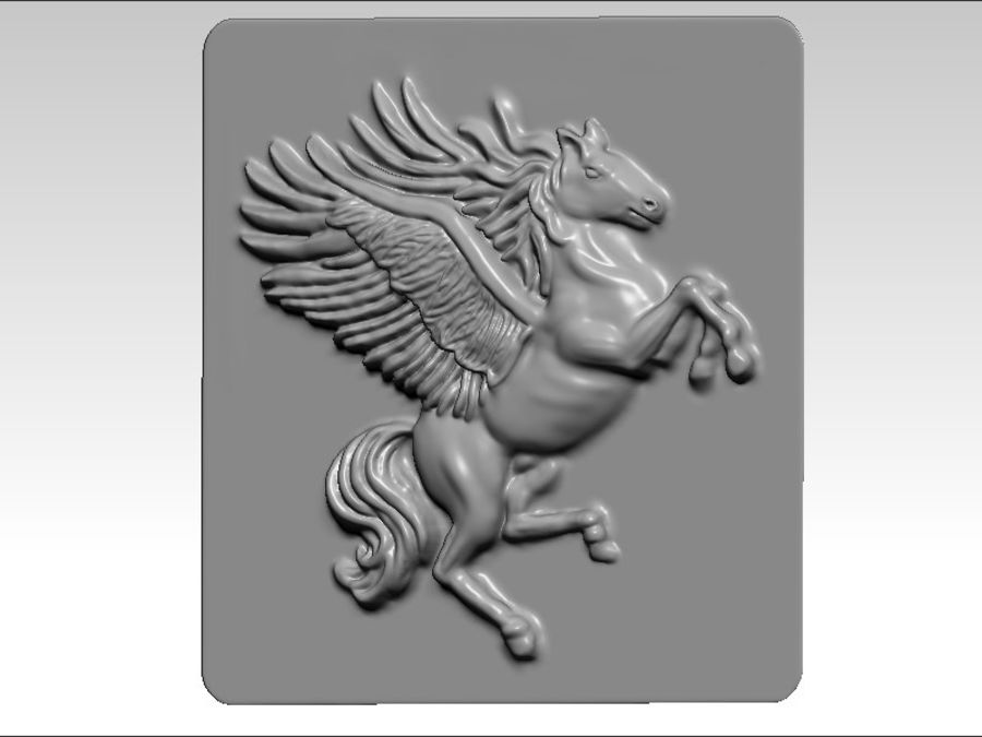 Pegasus flyghäst royalty-free 3d model - Preview no. 1