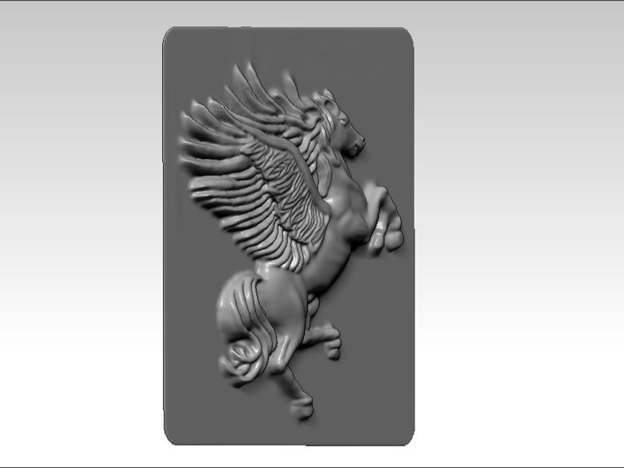 Pegasus flyghäst royalty-free 3d model - Preview no. 4