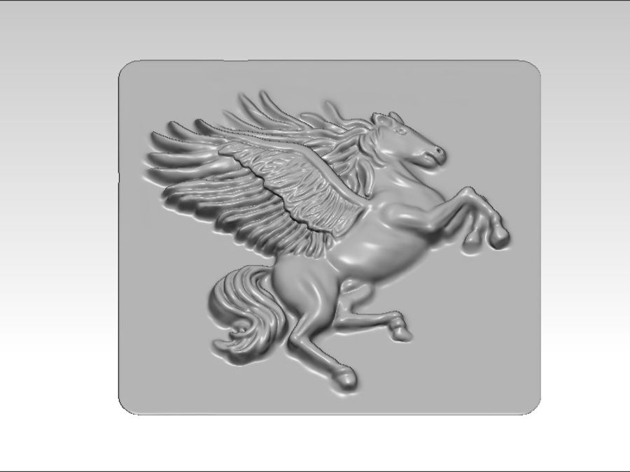 Pegasus flyghäst royalty-free 3d model - Preview no. 6