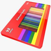 3D kleuren potloden 3d model