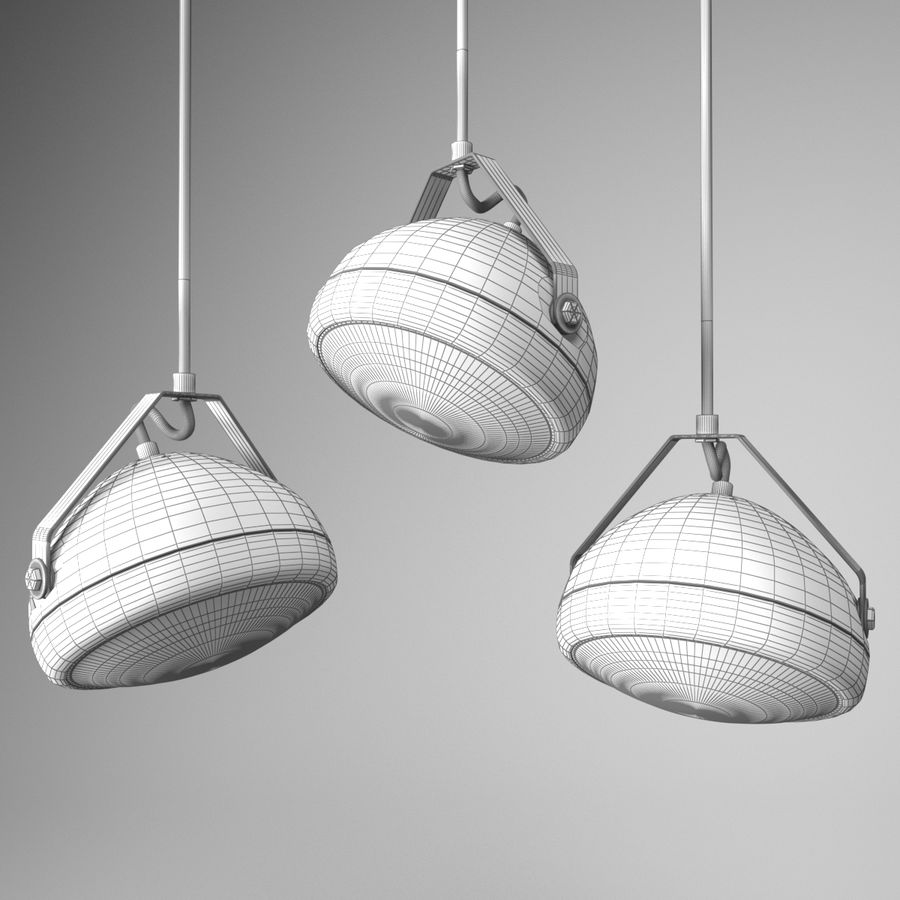 Vintage lamp royalty-free 3d model - Preview no. 4