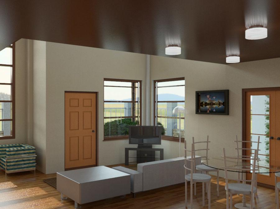 2层建筑房屋 royalty-free 3d model - Preview no. 3