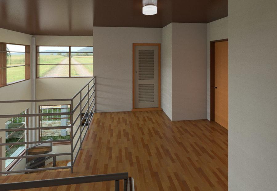 2层建筑房屋 royalty-free 3d model - Preview no. 6