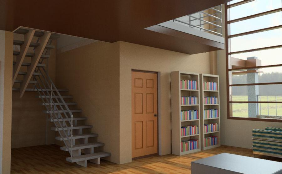 2层建筑房屋 royalty-free 3d model - Preview no. 4