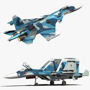 Sukhoi 33 Naval flanker 3d model