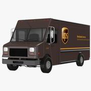 UPS卡车 3d model