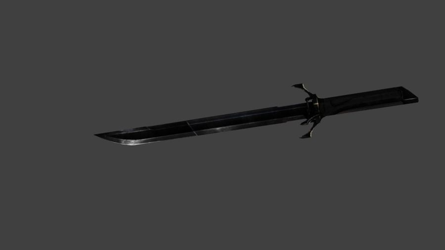 HD Dagger royalty-free 3d model - Preview no. 2