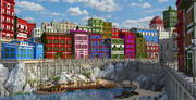 Fantasy Color Town. 3d model
