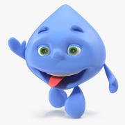 Gota de agua del personaje de dibujos animados aparejada para el modelo Maya 3D modelo 3d