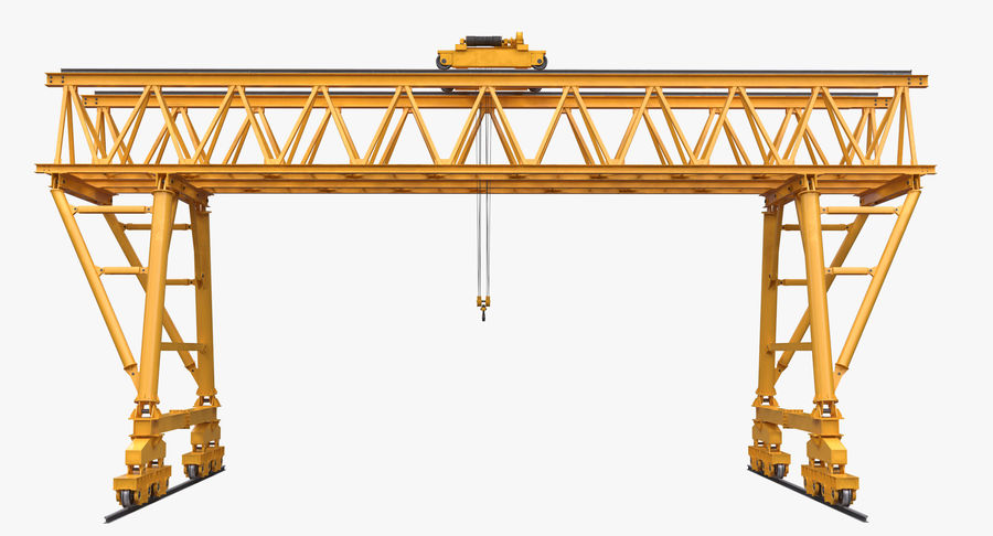Truss Gantry Crane royalty-free 3d model - Preview no. 4