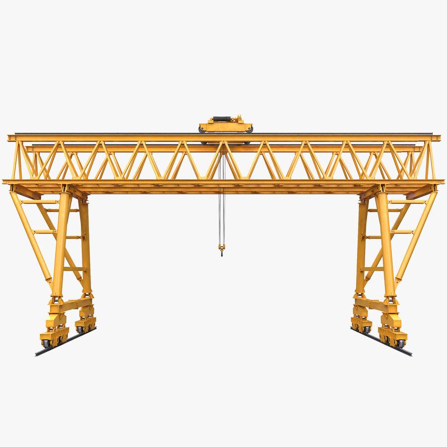 Truss Gantry Crane royalty-free 3d model - Preview no. 1
