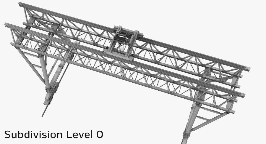 Truss Gantry Crane royalty-free 3d model - Preview no. 17