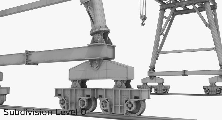 Truss Gantry Crane royalty-free 3d model - Preview no. 19