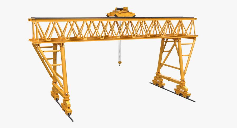 Truss Gantry Crane royalty-free 3d model - Preview no. 3