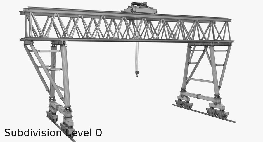 Truss Gantry Crane royalty-free 3d model - Preview no. 16