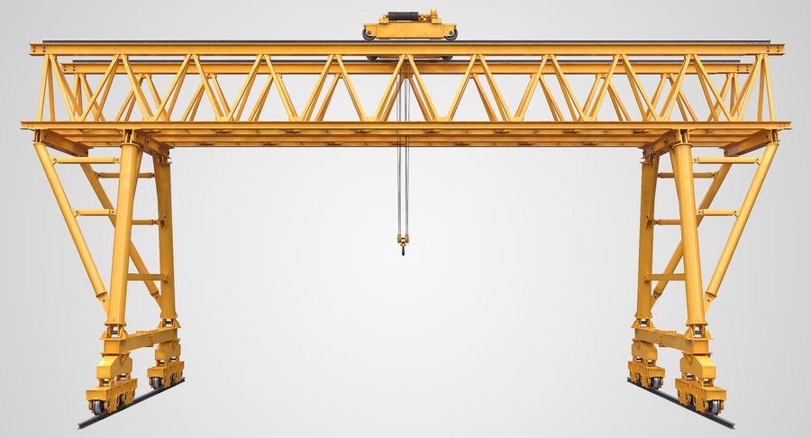 Truss Gantry Crane royalty-free 3d model - Preview no. 2