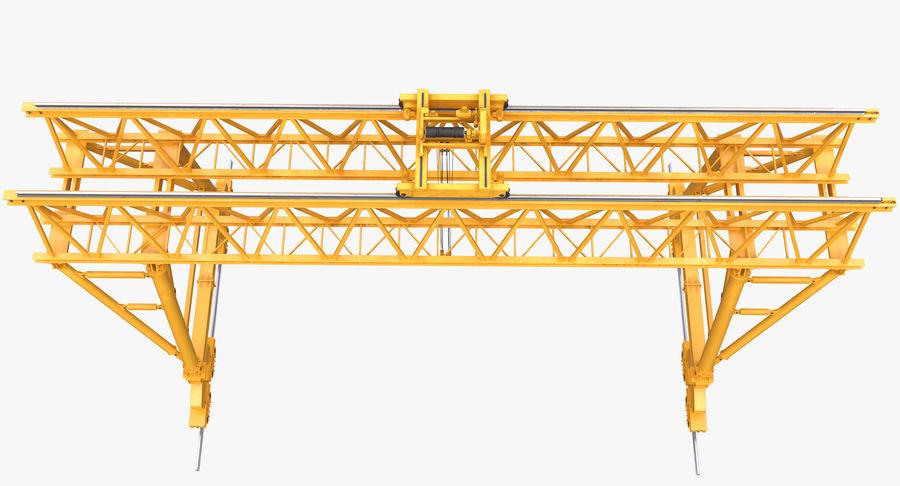 Truss Gantry Crane royalty-free 3d model - Preview no. 6