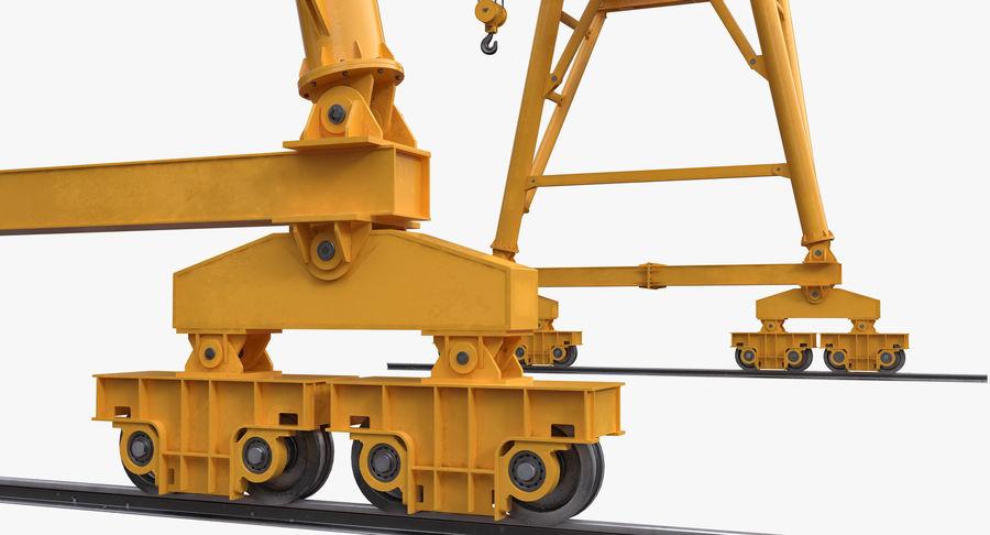 Truss Gantry Crane royalty-free 3d model - Preview no. 10