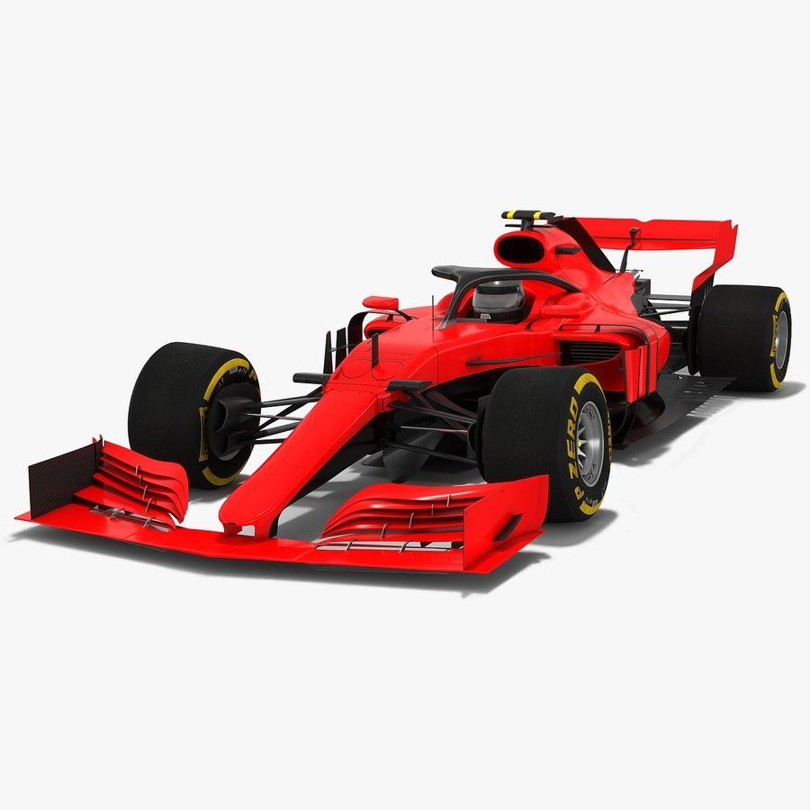 Formula 1 F1 2019 Concept royalty-free 3d model - Preview no. 1