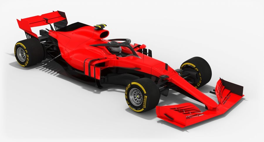 Formula 1 F1 2019 Concept royalty-free 3d model - Preview no. 5