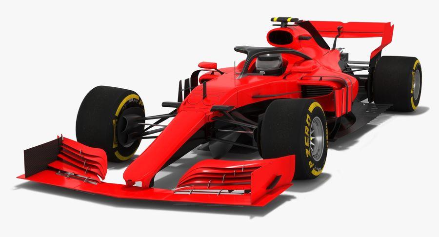 Formula 1 F1 2019 Concept royalty-free 3d model - Preview no. 2